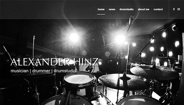 Referenzen, Website Alexander Hinz