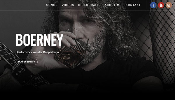Referenzen, Website Boerney Deutschrocker