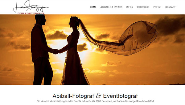Referenzen, Website Lars Grötzinger Fotografie