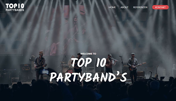 Referenzen, Website TOP10-Partybands